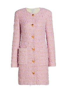 St. John Loose Weave Tweed Knit Patch Pocket Topper