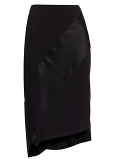 St. John Lux Asymmetric Midi Skirt