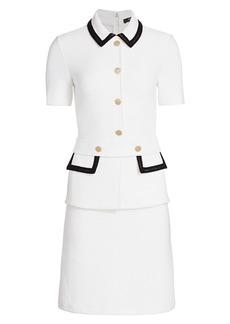 St. John Lux Bouclé Knit Short-Sleeve Dress