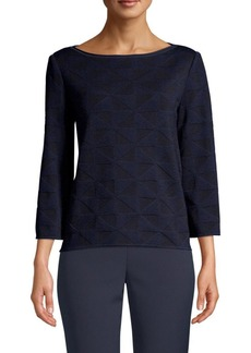 St. John Macro Geo Jacquard Sweater