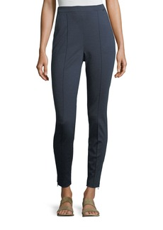 St. John Melange Stretch-Ponté Pull-On Leggings