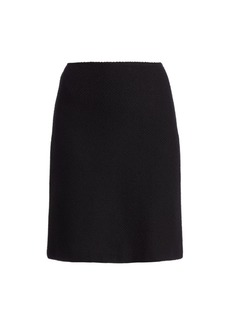 St. John Micro Float Knit A-Line Skirt
