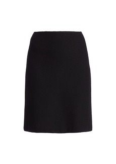 St. John Micro Float Knit A-Line Skirt