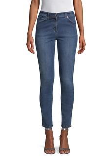St. John Mid-Rise Stretch Slim Ankle Jeans
