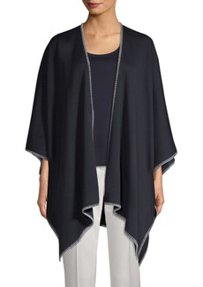 St. John Milano Blanket Stitch Knit Wrap