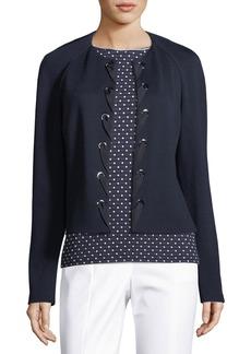 St. John Milano Knit Laced-Front Jacket
