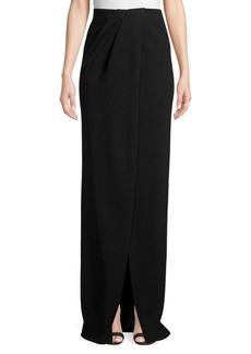 St. John Mod Metallic Knit Gown Skirt