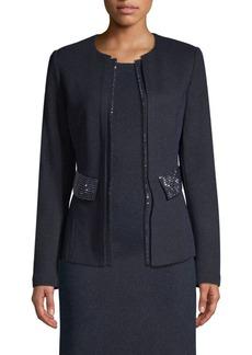 St. John Mod Metallic Knit Jacket