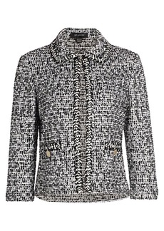 St. John Mod Statement Tweed Jacket