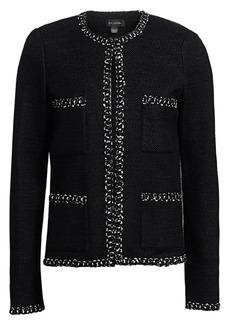 St. John Modern Ribbon Tweed Jacket