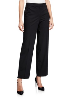 St. John Modern Tropical Wool-Blend Pants