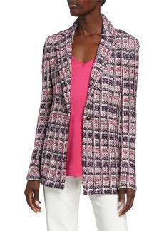 St. John Monarch Texture Tweed Jacket