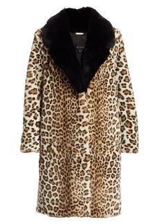 St. John Ocelot-Print Faux Fur Coat