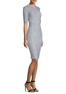 St. John Olivia Bouclé-Knit Sheath Dress