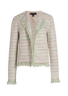 St. John Ombré Knit Fringe Jacket