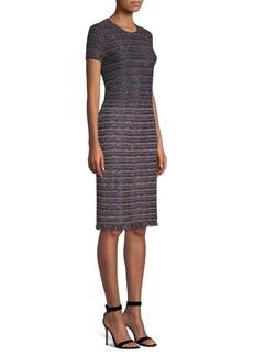 St. John Ombre Ribbon Tweed Sheath Dress