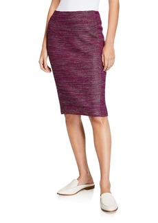 St. John Ombre Ribbon Tweed Pencil Skirt