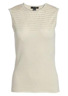 St. John Ottoman Shimmer Knit Top