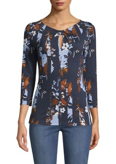 St. John Painted Floral Top