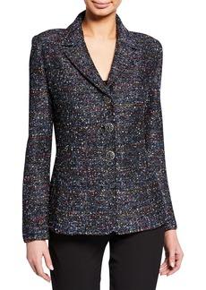 St. John Painterly Boucle Tweed Jacket
