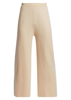 St. John Placed Engineered Stripe Knit Trousers