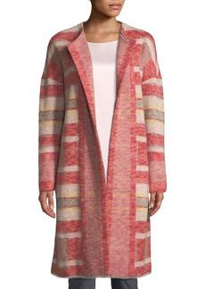 St. John Plaid Lofty Blanket Knit Coat