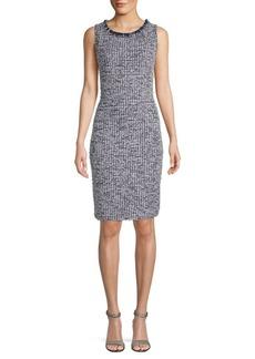 St. John Plaza Tweed Sheath Dress