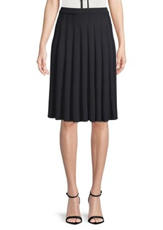 St. John Pleated Knitted Skirt