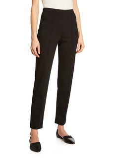 St. John Ponte Cropped Pull-On Pants  Black