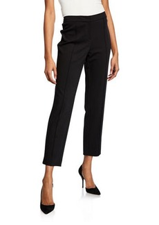 St. John Ponte High-Rise Ankle Pants