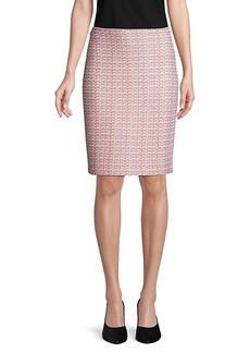 St. John Porcelana Knit Tweed Pencil Skirt
