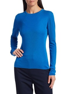 St. John Refined Cashmere & Silk Ribbed Sweater
