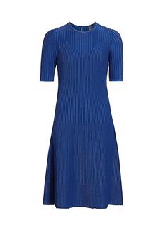 St. John Rib-Knit A-Line Dress