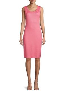 St. John Ribbed Sleeveless Wool-Blend Sweater Dress