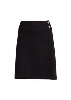 St. John Ribbon Textured Pencil Skirt