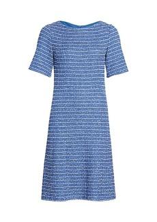 St. John Ribbon Tweed Knit A-Line Dress