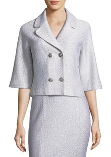 St. John Ripple Texture Sequin Knit Jacket