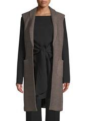 St. John Riso Wool-Blend Long Vest