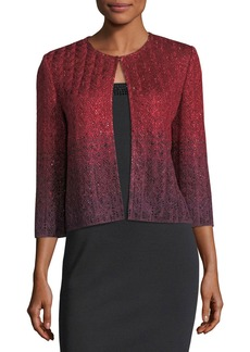 St. John Riviera Knit 3/4-Sleeve Short Jacket