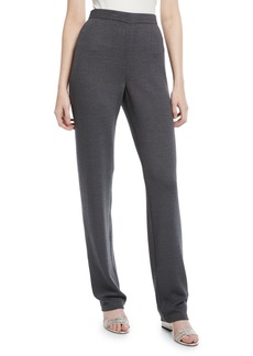 St. John Saba Fit High-Rise Tapered Pants  Gray
