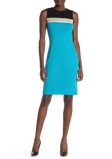 St. John Santana Colorblock Wool Blend Tank Dress