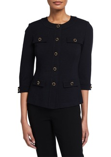 St. John Santana Knit 3/4-Sleeve Jacket