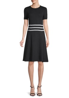 St. John Santana Knit A-Line Dress