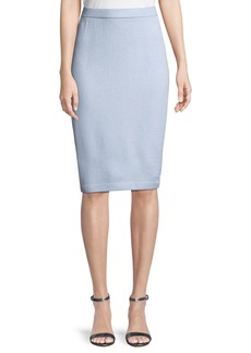 St. John Santana-Knit Pull-On Pencil Skirt