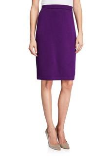 St. John Santana Knit Pull-On Skirt