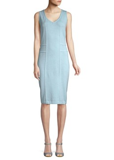 St. John Santana Knit Sheath Dress