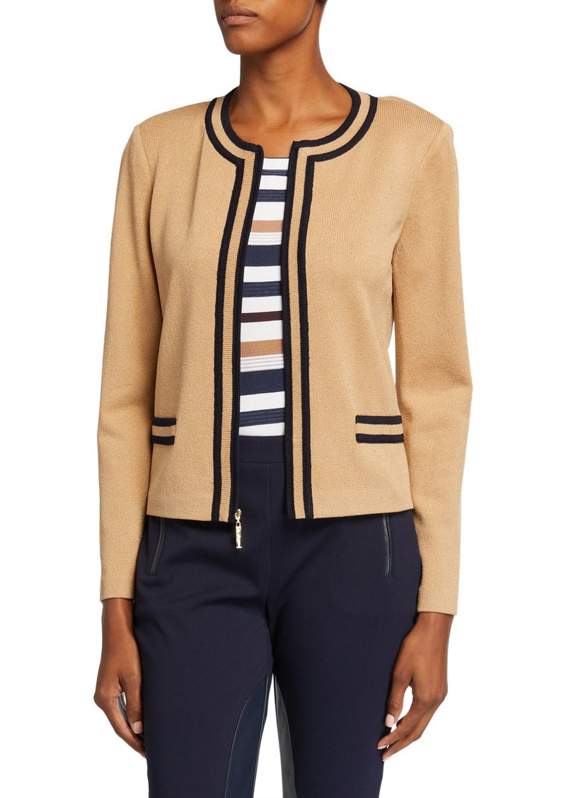 St. John Santana Knit Stripe Jacket