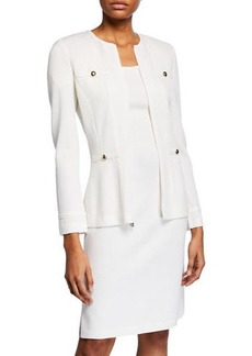 St. John Santana Knit Wool-Blend Jacket