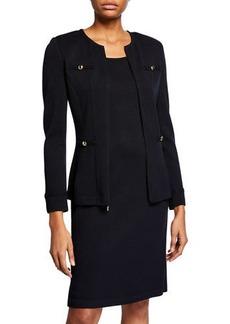 St. John Santana Knit Wool-Blend Jacket