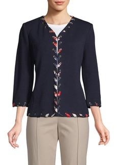 St. John Santana Lace-Up Jacket